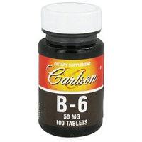 Carlson Laboratories Vitamin B-6, 50 mg, 100 tablets, Carlson Labs