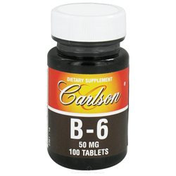 Carlson Laboratories Vitamin B-6, 50 mg, 100 tablets, Carlson Labs