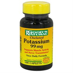 Good 'N Natural - Chelated Potassium 99 mg. - 100 Vegetarian Caplets