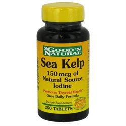 Good 'N Natural - Sea Kelp 150 mcg of Natural Source Iodine - 250 Tablets