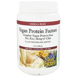 Vegan Protein Factors - Vanilla Bean, 12 oz, Natural Factors