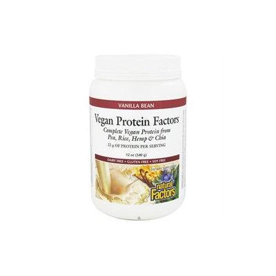 Vegan Protein Factors - Vanilla Bean, 12 oz, Natural Factors