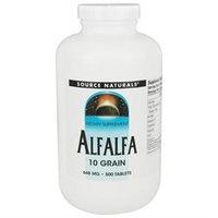 Source Naturals Alfalfa 10 Grain 648mg, 500 Tablets
