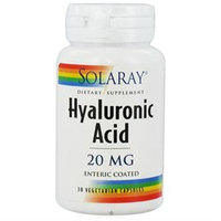Solaray Hyaluronic Acid - 20 mg - 30 Vegetarian Capsules