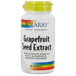 Solaray Grapefruit Seed Extract Yeast Fighting Formula - 60 Capsules