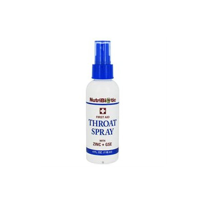 Nutribiotic - First Aid Throat Spray with Zinc GSE - 4 oz.