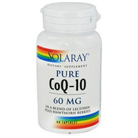 Solaray Pure CoQ-10 - 60 mg - 60 Capsules