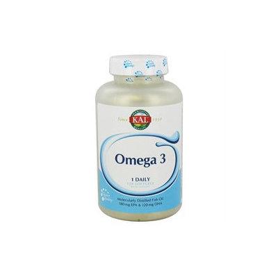 Kal - Omega-3 Molecularly Distilled Fish Oil - 120 Softgels