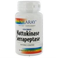 Solaray Nattokinase Serrapeptase - 30 Vegetarian Capsules