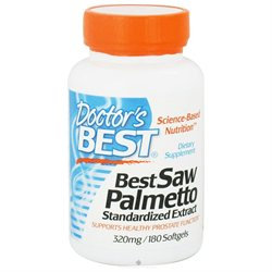 Doctor's Best Saw Palmetto Standardized Extract - 320 mg - 180 Softgels
