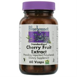 Bluebonnet Nutrition - Standardized Cherry Fruit Extract - 60 Vegetarian Capsules