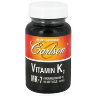 Carlson Labs - Vitamin K2 MK-7 Menaquinone-7 45 mcg. - 90 Softgels