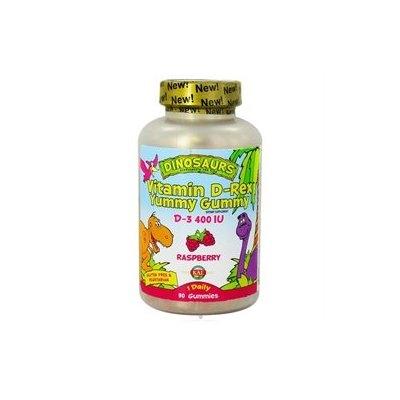 Kal Dinosaurs Vitamin D-Rex Yummy Gummy Raspberry - 400 IU - 90 Gummies