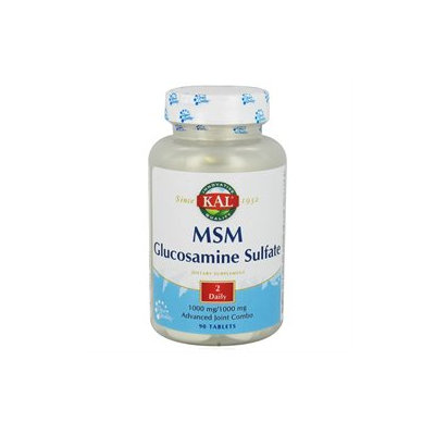 Kal - MSM With Glucosamine Sulfate - 90 Tablets