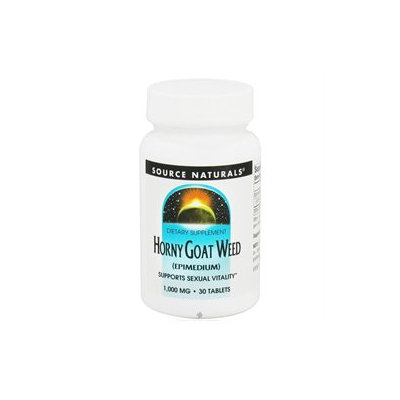 Source Naturals Horny Goat Weed - 1000 mg - 30 Tablets