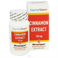 Superior Source - Cinnamon Extract Instant Dissolve 75 mg. - 120 Tablets