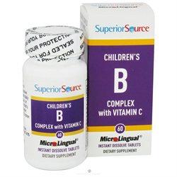 Superior Source - Children's B Complex with Vitamin C Instant Dissolve - 60 Tablets