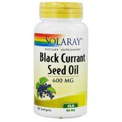 Solaray Black Currant Seed Oil - 600 mg - 90 Softgels