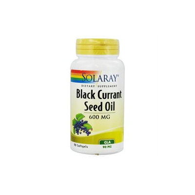 Solaray Black Currant Seed Oil - 600 mg - 90 Softgels