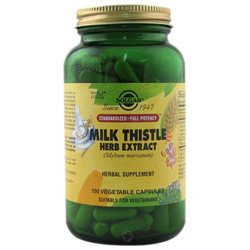Solgar - Milk Thistle Herb Extract - 150 Vegetarian Capsules