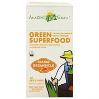 Amazing Grass - Green SuperFood Orange Dreamsicle Drink Powder - 15 Packets