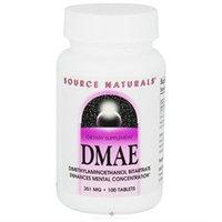 Source Naturals DMAE 351mg, Tablets, 100 ea