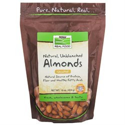 NOW Foods - Almonds - Natural & Unblanched - 1 lb.