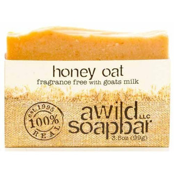 A Wild Soap Bar Organic Soap Bar, Honey Oat, 3.5 Ounce