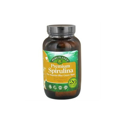Pure Planet - Premium Spirulina 500 mg. - 200 Vegetarian Capsules