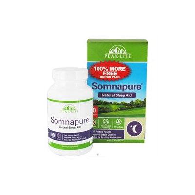 Peak Life - Somnapure Natural Sleep Aid Bonus Pack - 60 Tablets