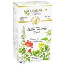 Celebration Herbals Organic Milk Thistle Seed Tea Caffeine Free - 24 Tea Bags