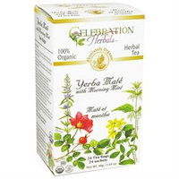 Celebration Herbals - Organic Yerba Mate with Morning Mint - 24 Tea Bags