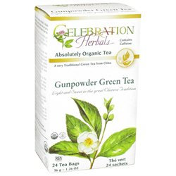 Celebration Herbals Organic Gunpowder Green Tea - 24 Herbal Tea Bags