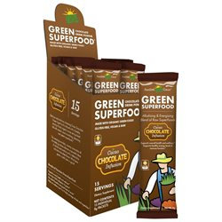 Amazing Grass - Green SuperFood Drink Powder Chocolate - 15 Packets
