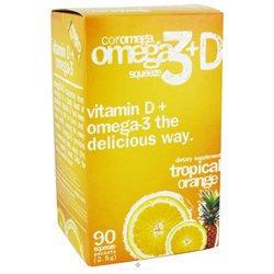 Coromega Company Coromega Omega 3+D - 90 Packets - Omega 3 Fish Oil