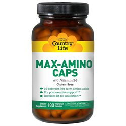 Country Life Max-Amino Caps with B6 - 180 Vegetarian Capsules