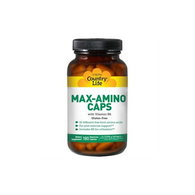 Country Life Max-Amino Caps with B6 - 180 Vegetarian Capsules