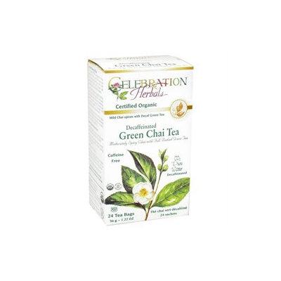 Celebration Herbals - Organic Decaffeinated Green Chai Tea - 24 Tea Bags