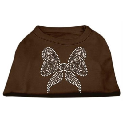 Ahi Rhinestone Bow Shirts Brown XXXL (20)