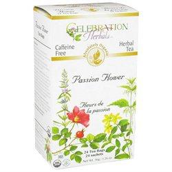 Celebration Herbals - Organic Caffeine Free Passion Flower Herbal Tea - 24 Tea Bags