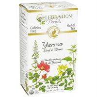 Celebration Herbals - Organic Caffeine Yarrow Leaf & Flower Herbal Tea - 24 Tea Bags