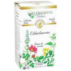 Celebration Herbals Organic Elderberries Herbal Tea Caffeine Free - 24 Tea Bags