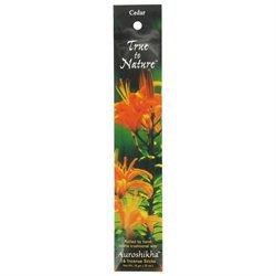 True To Nature Incense Cedar, 10 g, Auroshikha Candles & Incense