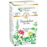 Celebration Herbals Organic Dandelion Root Raw Tea Caffeine Free - 24 Herbal Tea Bags