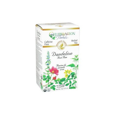 Celebration Herbals Organic Dandelion Root Raw Tea Caffeine Free - 24 Herbal Tea Bags