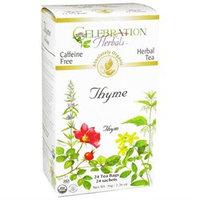 Celebration Herbals Organic Thyme Tea Caffeine Free - 24 Herbal Tea Bags
