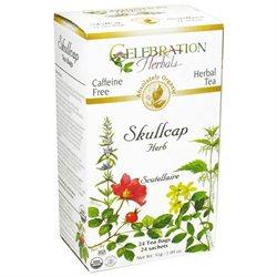 Celebration Herbals Organic Skullcap Root Tea Caffeine Free - 24 Herbal Tea Bags