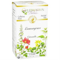 Celebration Herbals Organic Lemongrass Tea Caffeine Free - 24 Herbal Tea Bags