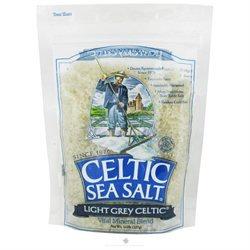 Selina Naturally - Celtic Sea Salt Resealable Bag Light Grey Course - 8 oz.