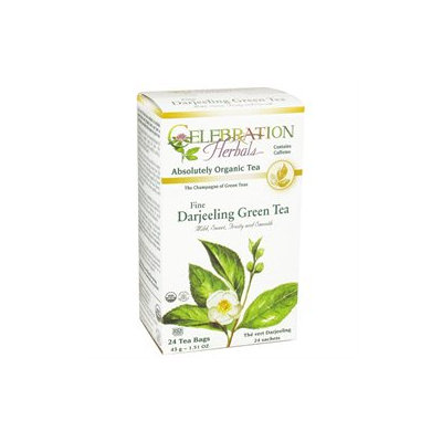 Celebration Herbals - Organic Darjeeling Green Tea - 24 Tea Bags
